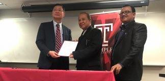 Penandatanganan MoU STIE Nobel Indonesia dan Temple University Philadelphia, Pennsylvania, Amerika Serikat.[Foto:/Ist]