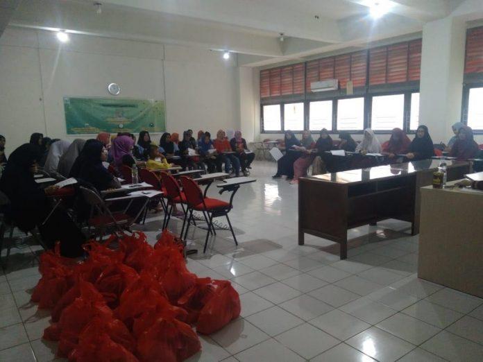 Kegiatan Pembekalan Penyelenggaraan Jenazah sebagai rangkaian Bakti Sosial Bersama Al-'Aafiyah (BASMALAH) 2018.[Foto:/Ist]