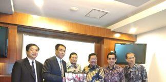 Pertemuan pertama untuk penjajakan kerjasama antara Unibos dengan Suzhou University of China.[Foto:/Ist.]