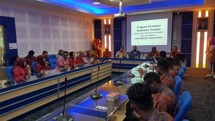 Launching dan kuliah perdana Prodi Vokasi D3 Kesehatan Terpadu Unhas.[Foto:/Ist.]