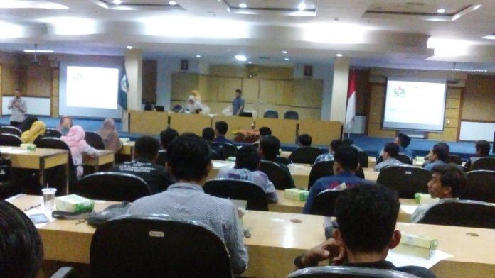 Pelatihan pengelolaan keuangan untuk lembaga kemahasiswaan di lingkup UIN Alauddin Makassar.[Foto:/Ist.]