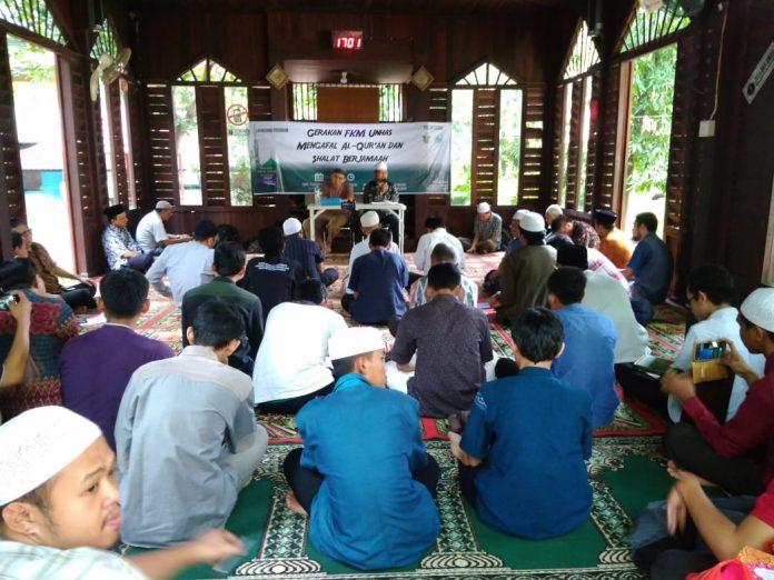 Suasana launching Gerakan FKM Unhas Menghafal Al-Qur'an dan Sholat Berjama'ah (GFMSB).[Foto:/Ist.]