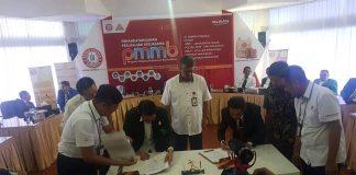 Penandatangan MoU UIN Alauddin Makassar dengan PT Semen Tonasa.[Foto:/Ist.]