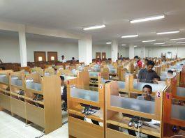 Pelaksanaan try out SBMPTN 2019 kerjasama PT Gramedia Kompas dengan UMI Makassar.[Foto:/Ist.]