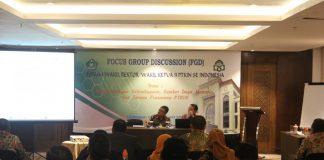 Suasana FGD Forum Wakil Rektor dan Wakil Ketua Bidang Administrasi, Perencanaan dan Keuangan PTKIN se-Indonesia.[Foto:/Ist.]