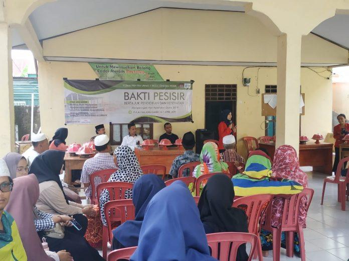 Kegiatan Bakti Pesisir di Pulau Balang Ca'di, Kabupaten Pangkep.[Foto:/Ist.]