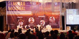 Seminar nasional yang dilaksanakan Himpunan Mahasiswa PWK Fakultas Teknik Unibos.[Foto:/Ist.]