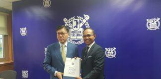 Penjajakan kerjasama FKG Unhas dengan dua perguruan tinggi dari Korea Selatan.[Foto:/Ist.]