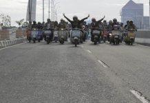 Zona Scooter Makassar yang merupakan club scooter terbesar di kota Makassar.[Foto:/Ist.]