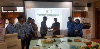 Penandatanganan MoU UIN Alauddin Makassar dengan Bank Mega Syariah.[Foto:/Ist.]