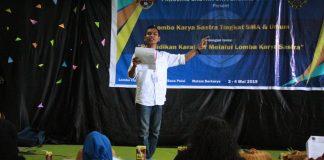 Suasana lomba karya sastra, baca dan tulis puisi tingkat SMA.[Foto:/Ist.]