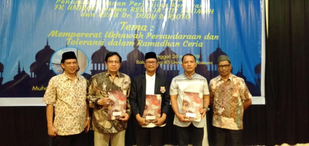 Penandatanganan MoU FK Unibos dengan RSKD IA Siti Fatimah dan RSAU Dody Sarjoto.[Foto:/Ist.]