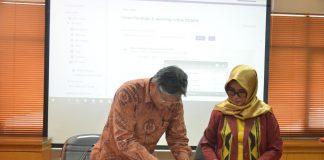 Penandatangan MoU antara STIE Nobel Indonesia dengan STIKES Mandala Waluya Kendari.